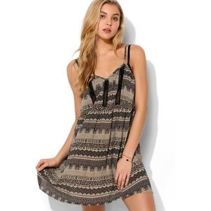 UO Staring At Stars Lace Inset Babydoll Dress S